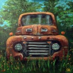 1949 ford pickup - acrylic painting