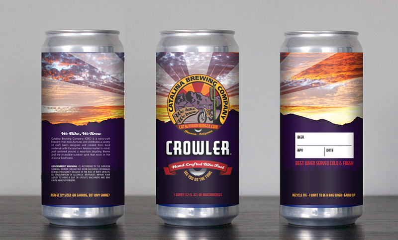 Catalina Brewing Company Crowler Can