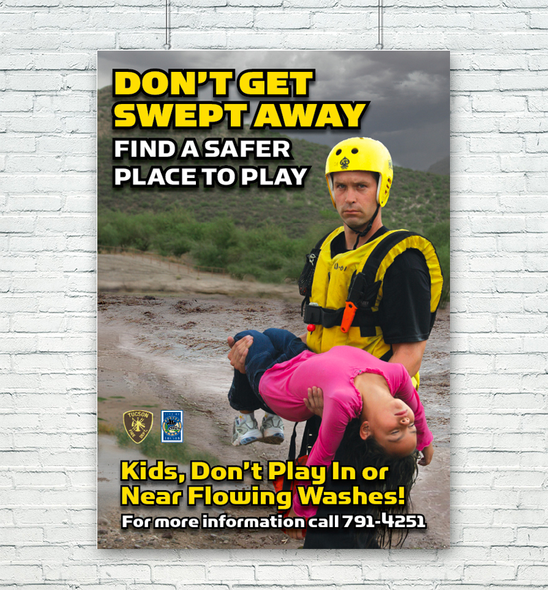 Don't Get Swept Away Poster