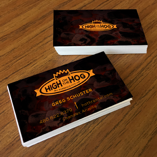 High On The Hog Business Cards
