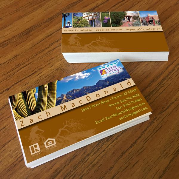 Zach macdonald realty business cards graeme hunt design view portfolio colourmoves