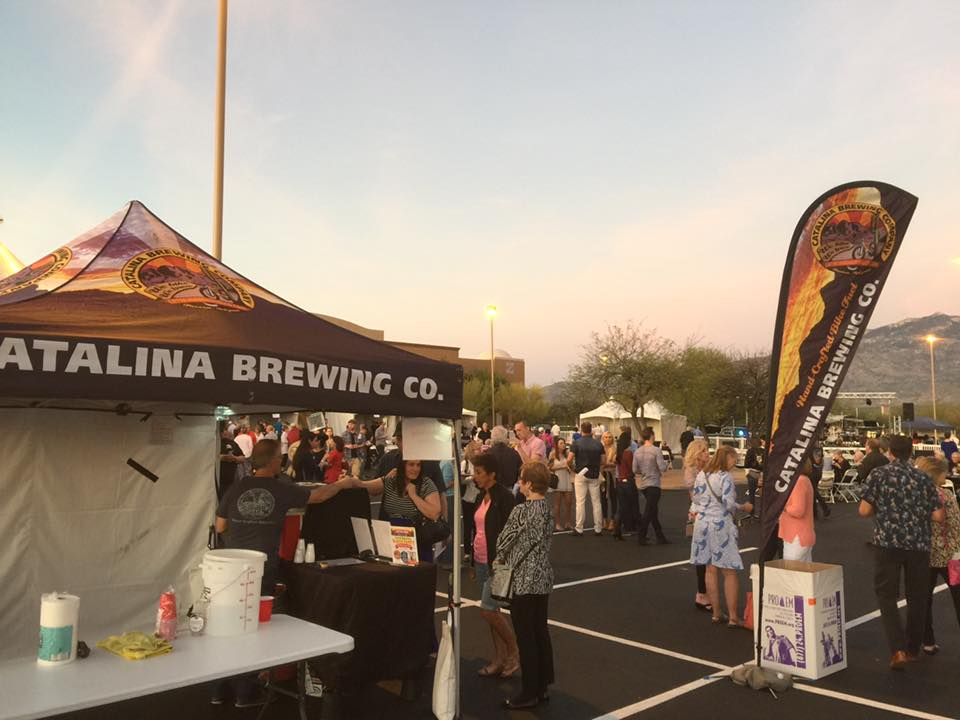 Catalina Brewing Company Canopy Tent and Teardrop Banner