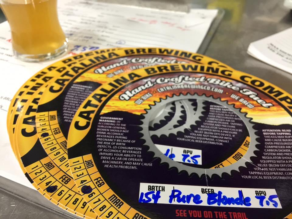 Catalina Brewing Company Keg Label